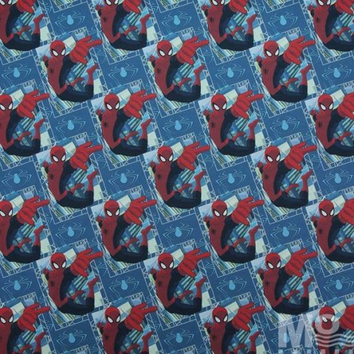 Ultimate Spider Man Blue Fabric - 100617
