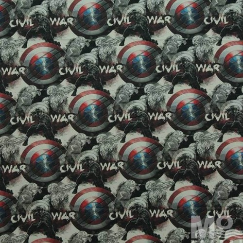Captain America Civil War Fabric - 101604