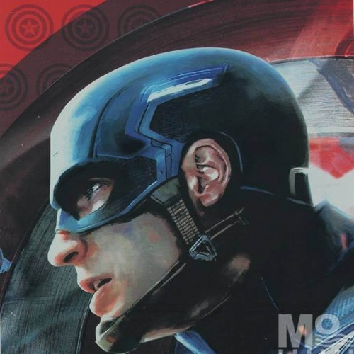 Captain America Civil War Blue Fabric - 101605