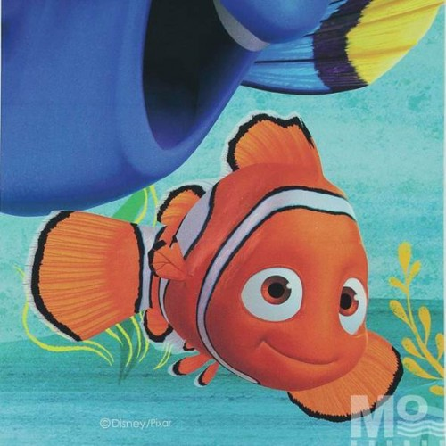 Finding Dory Orange Fabric - 101618