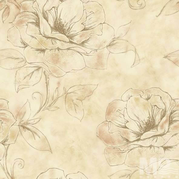Floreale Beige Wallpaper - 15415