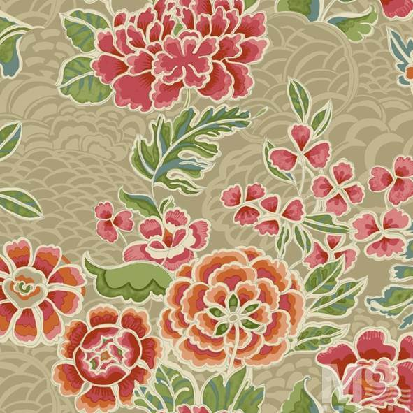 Giant Fleur Orangered Wallpaper - 15470