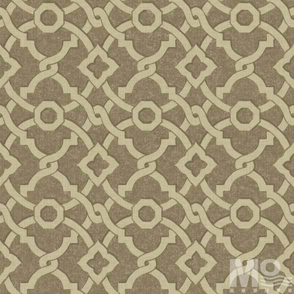 Geometrique Saddle Brown Wallpaper - 15477