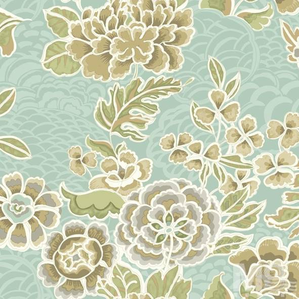 Giant Fleur Green Wallpaper - 15508
