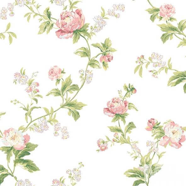 Flor Hermosa Pink Flower Wallpaper - 15621