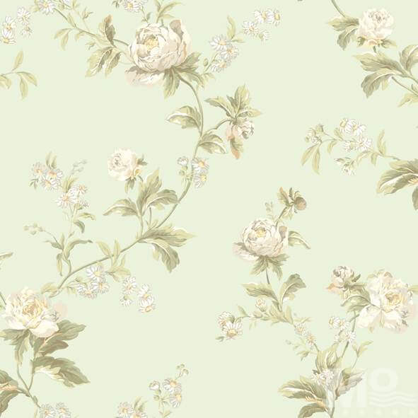 Flor Hermosa Beige Wallpaper - 15632