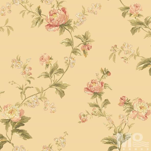 Flor Hermosa Gold Wallpaper - 15690