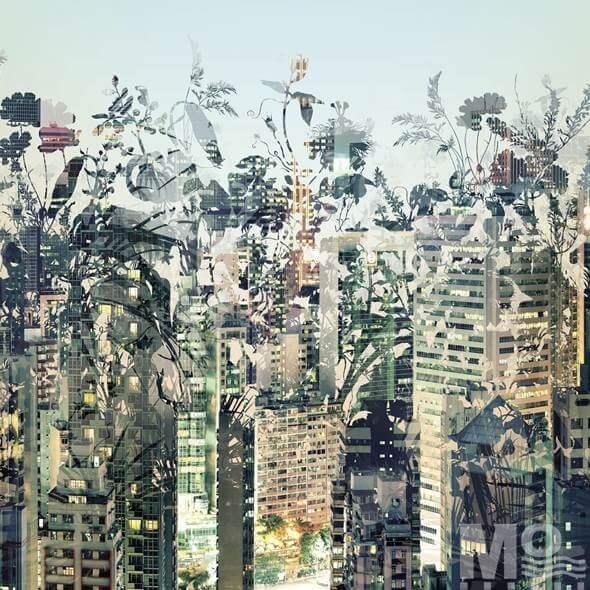 Urban Jungle Grey Wallposter - 19509