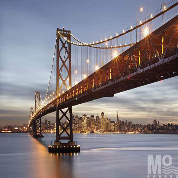 Bay Bridge Orange Wallposter - 19575