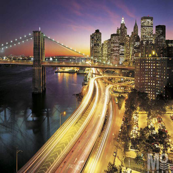 Nyc Lights Gold Wallposter - 19578