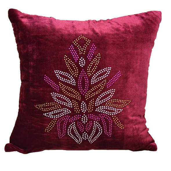 Mustard Red Cushion Cover - 32408