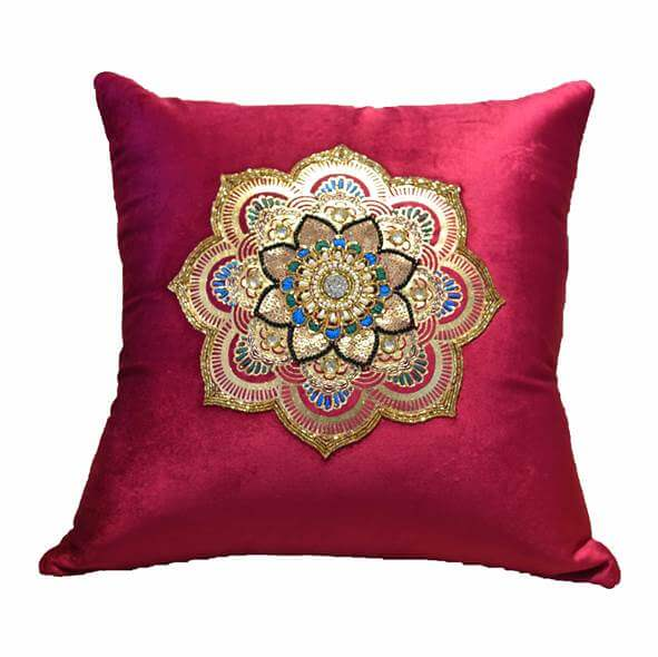 Metallic Foil Red Cushion Cover - 36850