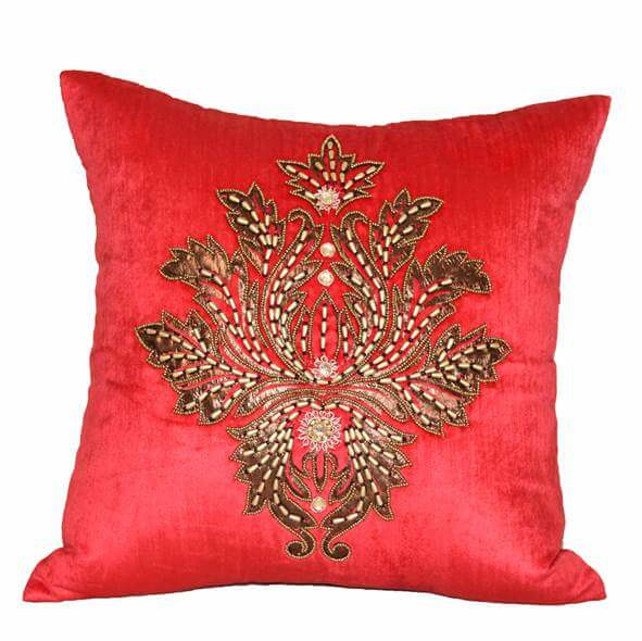 Mustard Red Cushion Cover - 36851