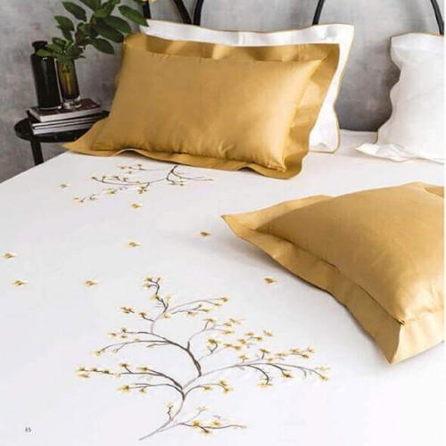 Spring Fever Mustard Bedsheet-38754