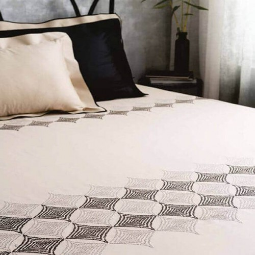 Modern Purity Charcoal Bedsheet-38770