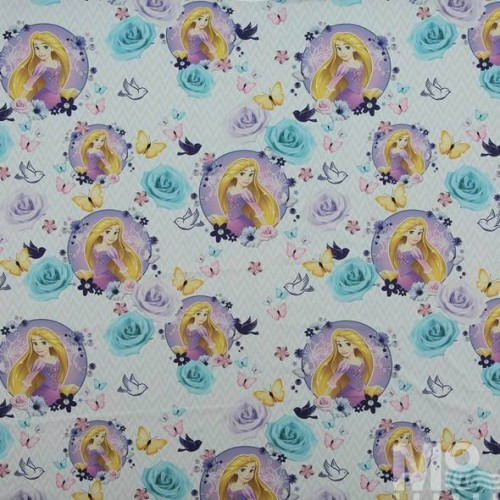 Rapunzel Passion White Fabric - 500002