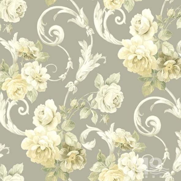 Rose Vine Yellow Wallpaper - 84026