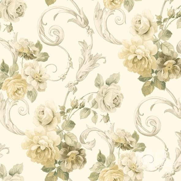 Vine Rose Beige  Wallpaper - 84029