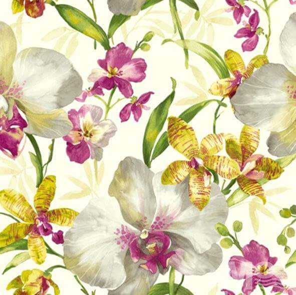 Camilla Rose Yellow Wallpaper - 84040