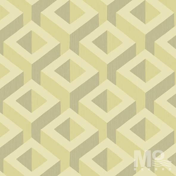 Metalic Cubes Gold Wallpaper-84056