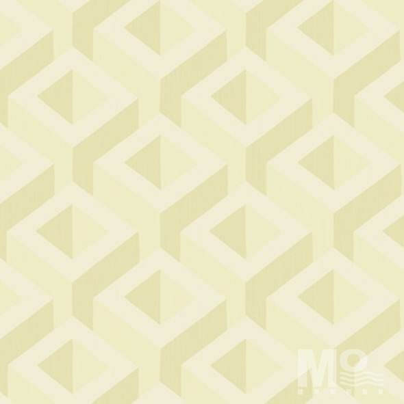 Metalic Cubes Light Gold Wallpaper-84058