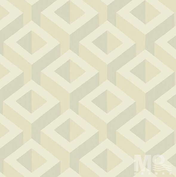 Metalic Cubes Beige Wallpaper-84060