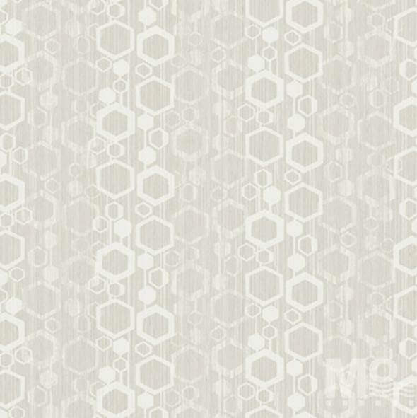 Geometric Glimmer Light Grey Wallpaper-84062