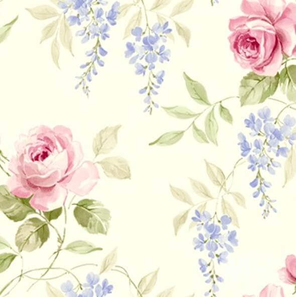 Rosewild Beige Wallpaper - 84063