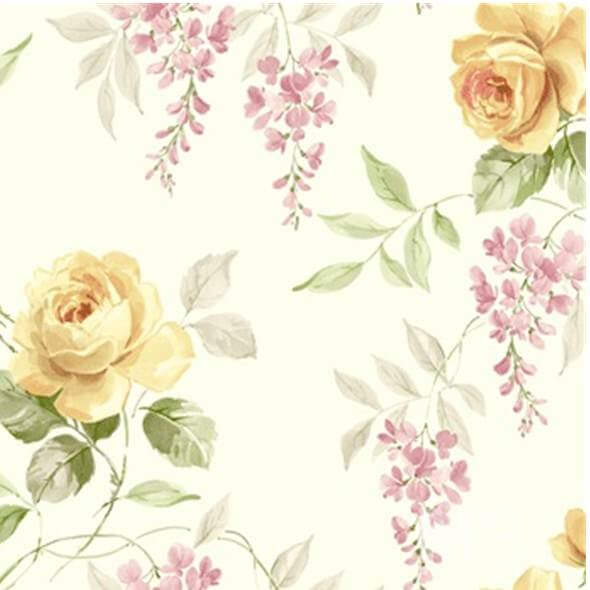 Rosegarden Beige Wallpaper - 84067
