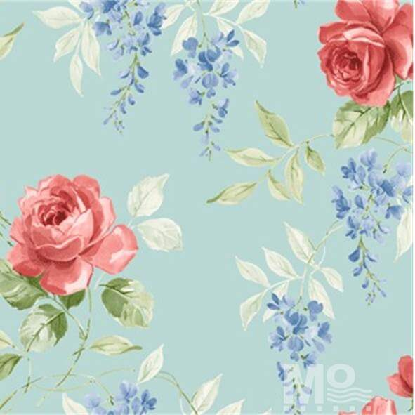 Rose Garden Cyan Wallpaper - 84069