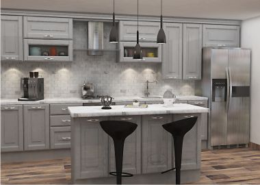 island shape modular kitchen design
