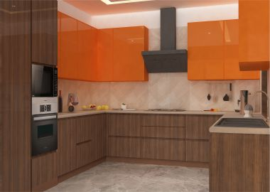 ushape modular kitchen design