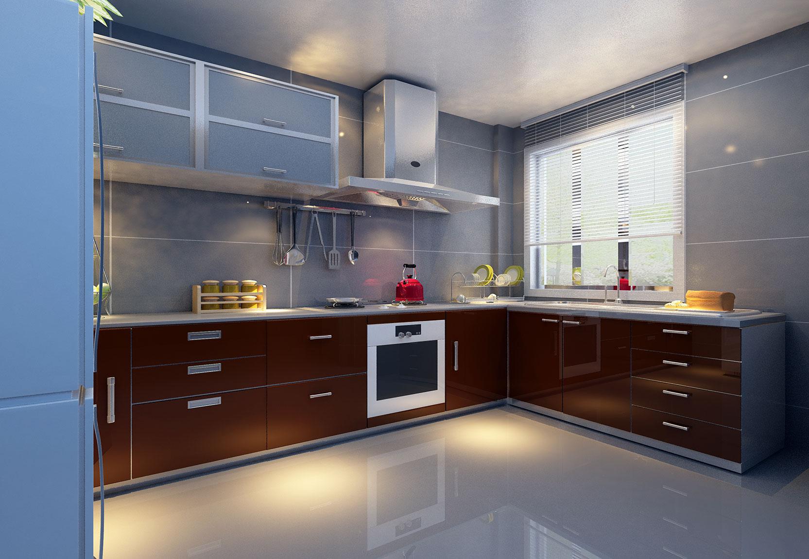 L-Shaped Modular Kitchen Designs In Gurgoan