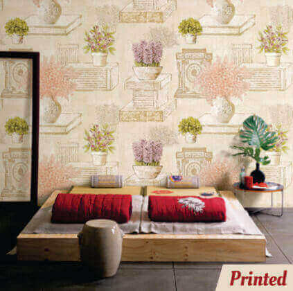 Broadway Cream Wallpaper - 15434